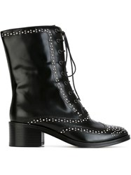 Each X Other Studded Lace Up Boots Black