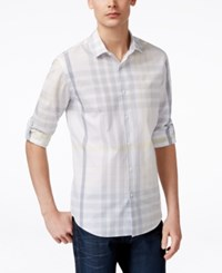 Alfani Red Men's Colebrook Plaid Long Sleeve Shirt Only At Macy's
