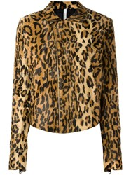 Alcoolique Animal Print Biker Jacket Nude Neutrals
