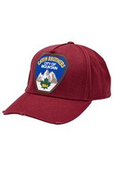 Dsquared2 Cotton Baseball Cap With Patch Red
