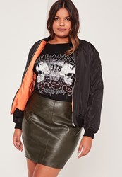 Missguided Plus Size Faux Leather Mini Skirt Khaki Beige