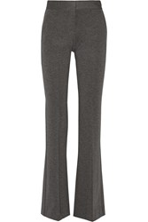 Theory Garetto Stretch Ponte Flared Pants Gray
