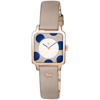 Radley Women's Rochester Square Leather Strap Watch Woodland Multi
