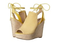 Guess Orristi Yellow Suede Women's Wedge Shoes