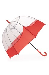 Hunter 'Moustache' Bubble Umbrella Red Bright Coral