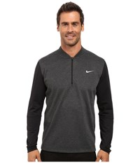 Nike Tiger Woods Sweater Tech 1 2 Zip Black Heather Black Black Reflective Silver Men's Sweater Gray