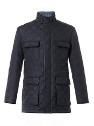 Brioni Quilted Silk Field Jacket