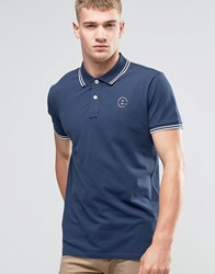 Jack And Jones Twin Tipped Polo Navy