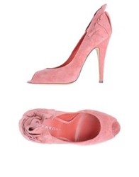 Casadei Pumps With Open Toe Pink