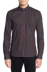 Men's Hugo 'Ero' Extra Trim Fit Long Sleeve Check Sport Shirt