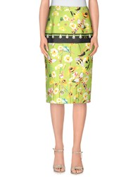 Piccione Piccione Skirts Knee Length Skirts Women Light Green