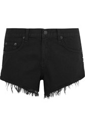 Rag And Bone Cut Off Studded Denim Shorts Black