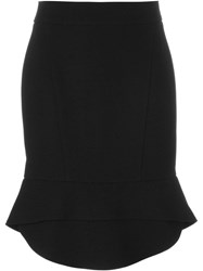 Alexander Wang Peplum Hem Pencil Skirt Black