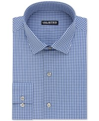 Unlisted Kenneth Cole Men's Slim Fit Check Dress Shirt Blue
