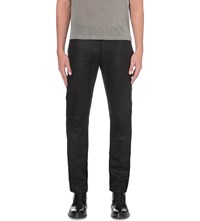 John Varvatos Chelsea Wax Finish Slim Fit Skinny Jeans Black