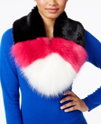 Betsey Johnson Xox Trolls Faux Fur Colorblocked Muffler Only At Macy's Pink