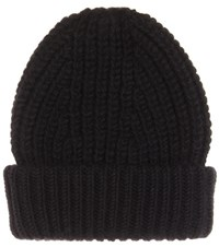 Acne Studios Hoy Wool And Mohair Blend Knitted Hat Black