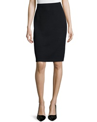 St. John Signature Santana Knit Pencil Skirt Black