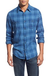 Men's Faherty 'Seasons' Trim Fit Long Sleeve Plaid Sport Shirt