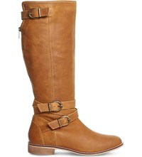 Office Kara Leather Knee High Boots Tan Leather