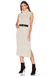 Tejido Maxi Sweater Dress Beige