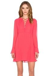 Wayf Lace Up Dress Coral