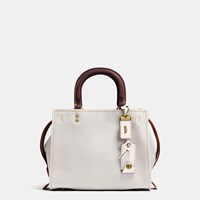 Coach Rogue Bag 25 In Glovetanned Pebble Leather Old Brass Chalk