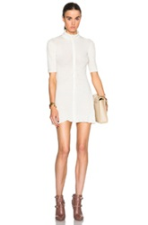Calvin Klein Collection Tai Fitted Chenille Turtleneck In White