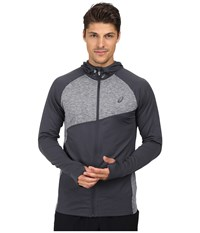 Asics Thermopolis Hoodie Dark Grey Dark Grey Heather Men's Coat Gray