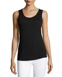 Xcvi Scoop Neck Tank Black