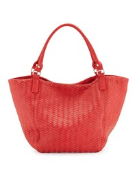 Neiman Marcus Woven Large Tote Bag Poppy