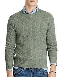 Polo Ralph Lauren Cashmere Cable Knit Sweater Lovette Heather