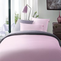 Tommy Hilfiger Pink Satin Duvet Cover And Pillowcase Set Super King