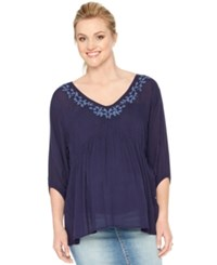 Motherhood Maternity Embroidered Blouse