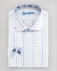 Robert Graham Amos Striped Dress Shirt Yellow