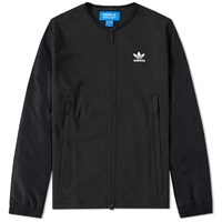Adidas Stripes Slogan Bomber Jacket Black