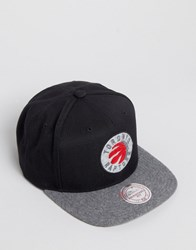 Mitchell And Ness Snapback Cap Fuzz Toronto Raptors Black