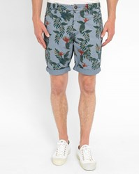 Minimum Blue Bagley Print Pr Shorts