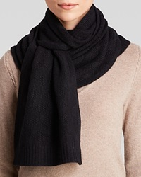 C By Bloomingdale's Luxe Cashmere Jack Scarf Black
