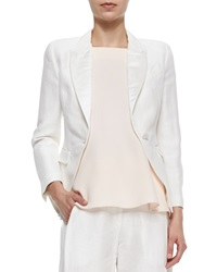 Adam By Adam Lippes Adam Lippes Peaked Lapel Cropped Blazer Ivory