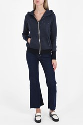 Rta Denim Estelle Destroy Jogging Hoody Navy