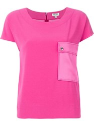 Kenzo Flap Pocket T Shirt Pink And Purple