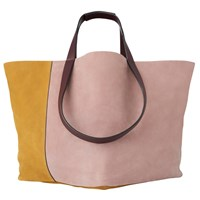 Whistles Java Colour Block Tote Bag Lilac