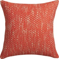 Cb2 Diamond Weave Red Orange 18'' Pillow With Feather Down Insert