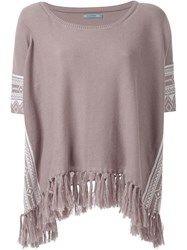 Guild Prime Fringed Hem Detail Tunic Brown