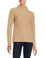 Lord And Taylor Textured Cashmere Sweater Classic Brown