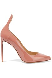 Francesco Russo Patent Leather Pumps Antique Rose
