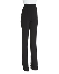 Agnona High Waist Stretch Wool Trousers Black