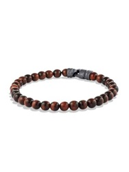 David Yurman Spiritual Bead Tiger's Eye Bracelet Brown Multi