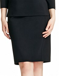 424 Fifth Plus Ponte Knit Pencil Skirt